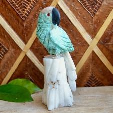 Papagoi - Krüsokolla, mäekristall, obsidiaan