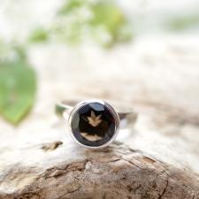Sõrmus - Suitskvarts (925 hõbe)