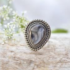 Sõrmus - Ahhaat druus (925 hõbe)