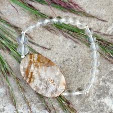 Käevõru: Mäekristall * Kivistunud puit (925 hõbe)