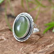 Sõrmus - Nefriit (925 hõbe)