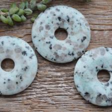 Ripats / rondell - kiivi jaspis (45mm)