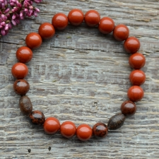 Punane jaspis * Mahagonobsidiaan * Puit