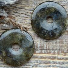 Ripats / rondell - labradoriit (40mm)