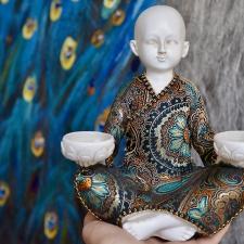 Küünlahoidja - munk kahele küünlale