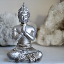 Buddha kuju hõbedane