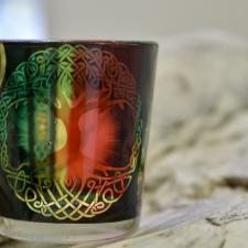 Teeküünla hoidja - Elupuu (klaasist)
