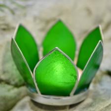 Teeküünla hoidja - väike roheline lootos