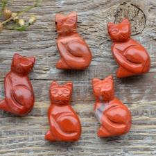 Auguga kivi / ripats - kass, punane jaspis