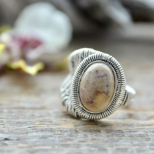 Sõrmus - Fossiilkorall (925 hõbe)