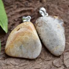 Ripats - fossiilkorall ehk kivistunud korall (925 hõbe)