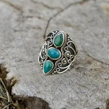 Sõrmus - Krüsokolla (925 hõbe)