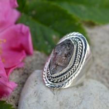 Sõrmus - Herkimeri teemant (925 hõbe)