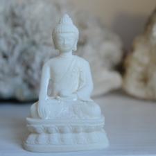 Buddha kuju Shakyamuni mudraga - alabaster