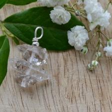 Ripats - Herkimeri teemant (27x20x11mm) (925 hõbe)
