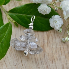 Ripats - Herkimeri teemant (28x24x22mm) (925 hõbe)