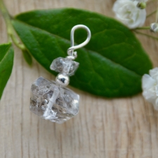 Ripats - Herkimeri teemant (24x17x15mm) (925 hõbe)