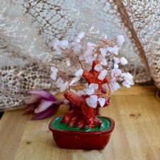 Küllusepuu - Roosa kvarts (16cm)