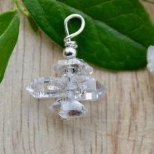 Ripats - Herkimeri teemant (22x21x8mm) (925 hõbe)