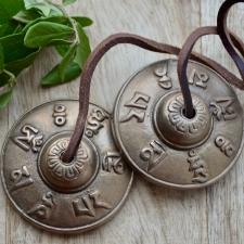 Tingshad ehk tiibeti kellad Om mani padme hum (6.7cm)
