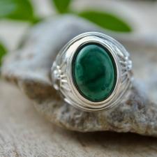 Sõrmus - Malahhiit (925 hõbe)