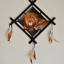 Unenäopüüdja - Lõvi ja tiiger (62cm)