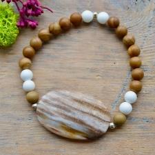 Alabaster * Kivistunud puit * Maastikujaspis (925 hõbe)