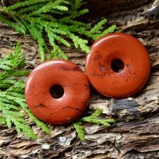 Ripats / Rondell / Päikeseratas - Punane jaspis (40mm)