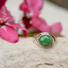Sõrmus - Tsavoriit / roheline granaat (925 hõbe)