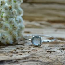 Sõrmus - Aqua kaltsedon (925 hõbe)