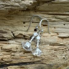 Kõrvarõngad - Herkimeri teemant, Kuukivi, Mäekristall (925 hõbe)