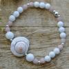 Alabaster * Roosa opaal * Teokarp (925 hõbe)